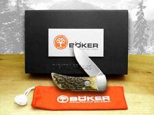 BOKER TREE BRAND Genuine Deer Stag Gentlemans Lockblade 111006 Pocket Knife