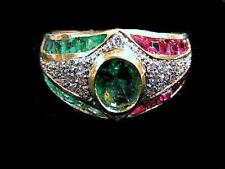 DIAMOND~RUBY~EMERALD RING - 1166MAG621