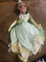 """Disney store Tiana Plush Doll 21"""" The Princess And The Frog Soft Doll"""