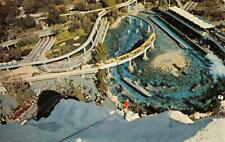 TOMORROWLAND Monorail, Submarine Lagoon DISNEYLAND Panoramic Vintage Postcard