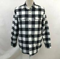 Obey Men's Shirt Jacket Logan Sherpa Black/White Size M NWT Shepard Fairey