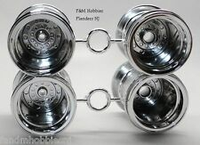 Tamiya Metallic Edition Midnight Pumpkin 4 Rim Chrome Wheel Set / Fits Lunch Box