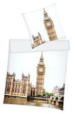 Bettwäsche London - Big Ben - 135 x 200 cm + 80 x 80 cm - Renforcé