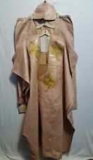 African Men Clothes Brocade Grand Bou Bou Pant suit Beige Handmade Free size