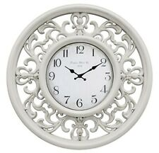 White French Provincial Wall Clock Filigree Home Office Kitchen Décor *30 cm*