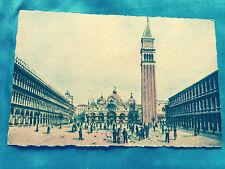 Italy Venezia Piazzo S. Marco Art Postcard by A. Traldi Milano Venice color