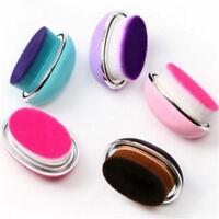 Travel Makeup Brush Cosmetic Foundation Powder Brush Oval Egg Brush W/Box ~F