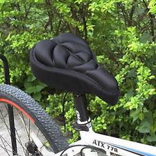 LC_ silicone bicicletta sella della bici traspirante Gel Cuscino morbido panno