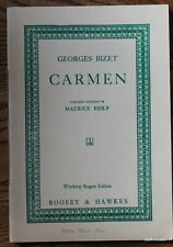 Georges Bizet CARMEN Concert Version by Maurice Besly --  Boosey & Hawkes