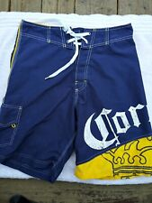 Corona Extra Boardshorts size 28 Swim Trunks board Shorts blue yellow swimming