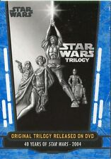 Star Wars 40th Anniversary Blue Base Card #88 Original Trilogy Released on DVD