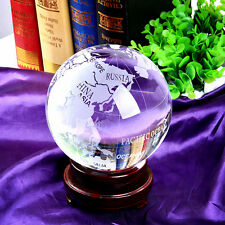 Quartz Crystal Globe 150mm Sphere ORB Ornament Home Decor Unique Gift With Stand