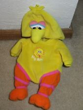 Playmates Water Babies Sesame Street Big Bird Outfit Costume ONLY 2005 yellow