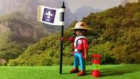 PLAYMOBIL LOT 287 BOY SCOUT SCOUTISME JAMBOREE AVENTURE NATURE CAMP BADEN POWELL