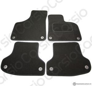 Audi A3 2003 - 2012 Tailored Black Car Floor Mats Carpets 4pc Set 8 Clips