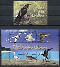 MALEDIVEN MALDIVE 2010 Vögel Birds Uccelli Oiseaux 4806-4811 + Block 630 ** MNH