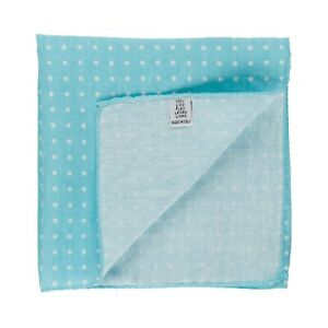 New Sartorial Pocket Square Handkerchief Hand-Rolled in Italy Pure Linen Dot