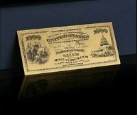 """<GEM>1875 """"GOLD""""$1,000 1ST National BANK Of SALEM Banknote~AWESOME DETAIL!"""