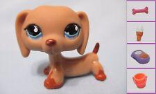 Littlest Pet Shop Dog Dachshund Weiner 518 Free Accessory Authentic Lps