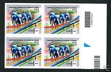 Italia Repubblica 2013 : Ciclismo - quartina con codice a barre
