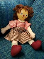 Buddy sis oil cloth doll:: friend to Raggedy Ann family 1925-1930 Doll.
