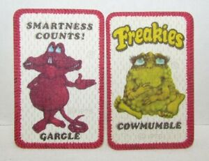 1975 Ralston Freakies Cereal Iron On Patches: Gargle, Cowmumble