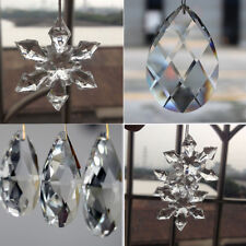 10Pcs Chandelier Ball Drop Crystal Glass Loose Spacer Ornaments Xmas Decor Clear