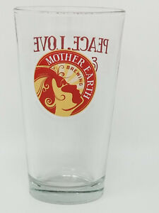 Mother Earth Brewing Peace Love Beer Red Yellow Vista California Beer Pint Glass