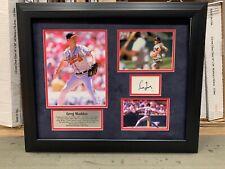 Greg Maddux Braves Custom Framed Signature Cut card Hall of Fame JSA COA