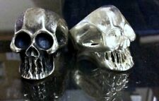 Large Solid Sterling Silver Punisher Skull Ring Keith Richards Style Any Size