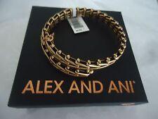 Alex and Ani Gypsy 66 Wrap Rafaelian Gold Charm Bangle New W/ Tag Card & Box