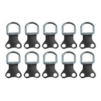 10pcs Heavy Duty D Ring Picture Hangers Double Hole Photo Frame Hanging Hook