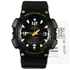 New CASIO AQ-S810W-1B Tough Solar World Time LED Resin Watch