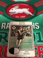 1975 Scanlens Rugby League Card No 104 Russell Mullins Wests Magpies