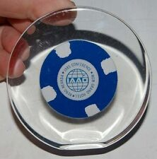 MGM Grand Reno Nevada Poker Chip Lucite Paperweight