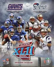 "New York Giants & Patriots Match-up  Super Bowl XLII 8"" x 10"" ~ Licensed"