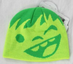 New 2017 NEFF Youth Happy Beanie Lime/Green Youth