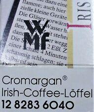 WMF Cromargan - 5 IRISH-COFFEE-Löffel mit Trink-Halm - 19,5 cm -  (Erh. 1/ OVP)