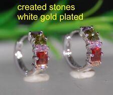 princess max stones 1.4cm hoops earrings