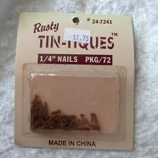 """NEW Rusty Tin-Tiques 1/4"""" NAILS Primitive crafts PACKAGE of 72 NIP UNOPENED"""