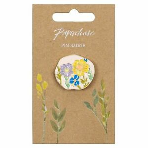 PIN BADGE Enamel high quality - Flower Pin - Paperchase - (6872)