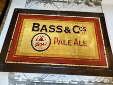 Bass & Co Pale Ale embossed steel sign