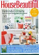 HOUSE BEAUTIFUL MAGAZINE AUGUST 2018 ~ WITH FREE HB SUMMER GARDENS MAG ~ NEW ~
