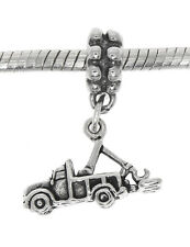 STERLING SILVER TOW-TRUCK DANGLE EUROPEAN BEAD CHARM