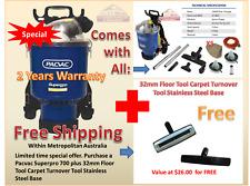 Pacvac Superpro 700 Vacuum Cleaner Backpack 2 Cloth bag 5 Paper Extra Floor Tool