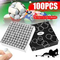 100Pcs 9/10/11/12/13mm Billiard Snooker Pool Cue Tips Hardness Stick  UH