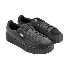Puma Womens Fenty by Rihanna Riri Gray Creeper Velvet 36446603 Shoes