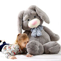 47'' Giant Plush Bunny Doll Big Soft Stuffed Long Ear Rabbit Toy 4 Colors 2 Size