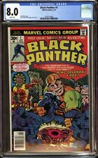 BLACK PANTHER #1 (1977 Marvel) CGC GRADED 8.0 VF WHITE PAGES JACK KIRBY
