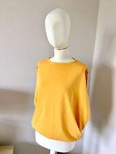 STELLA McCARTNEY Lemon Yellow Cocoon Bubble T-shirt Top w Cut-out Back SZ 38 / S